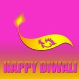 Happy Diwali. Diwali lamp with Happy Diwali text Royalty Free Stock Photo