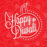 Happy diwali lettering. For your greeting card design stock illustration