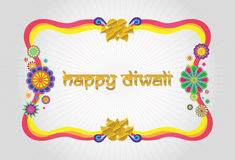 Happy diwali modern frame. Happy diwali colorful and modern frame royalty free illustration