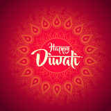 Happy diwali with ornament of henna Stock Photo