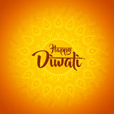 Happy diwali with ornament of henna.