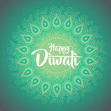 Happy diwali with ornament of henna Stock Image