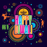 Happy Diwali Poster, Banner or Flyer design. Colorful festive background with stylish text Happy Diwali and other elements, Elegant Poster, Banner or Flyer Royalty Free Stock Photography