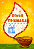 Happy Diwali promotion background with diya Stock Photography
