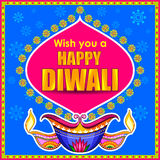 Happy Diwali promotion background with diya Stock Images