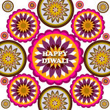 Happy Diwali rangoli Art colorful pattern  Stock Image