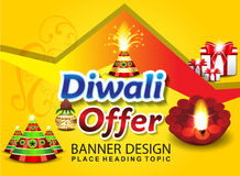 Happy diwali sale background. Vector illustration Royalty Free Stock Photography