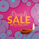 Happy diwali sale offers and deals Royalty Free Stock Photo