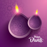 Happy diwali. traditional indian diya oil lamp. Royalty Free Stock Images