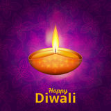 Happy Diwali - traditional Indian festival background with lamp. Happy Diwali - traditional Indian festival colorful background with lamp Stock Illustration