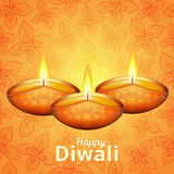 Happy Diwali - traditional Indian festival background with lamp. Happy Diwali - traditional Indian festival colorful background with lamps Stock Illustration