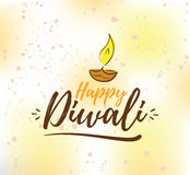 Happy Diwali typography Royalty Free Stock Images