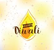 Happy Diwali typography Stock Image