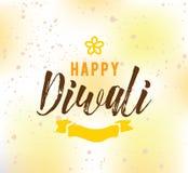 Happy Diwali typography Royalty Free Stock Photo