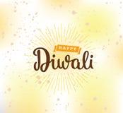 Happy Diwali typography Stock Images