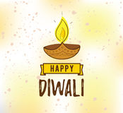 Happy Diwali typography Royalty Free Stock Photography