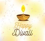 Happy Diwali typography Stock Photos