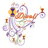 Happy Diwali typography in calligraphy style for festival of India Stock Photos