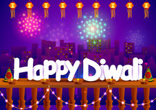 Happy Diwali wallpaper background Royalty Free Stock Photo