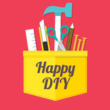 Happy DIY. Concept Vector Illustration royalty free illustration
