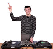 Happy dj play music Royalty Free Stock Photography