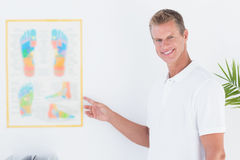 Happy doctor looking at camera Royalty Free Stock Photography