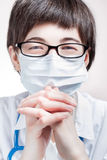 Happy doctor in mask Royalty Free Stock Images