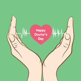 Happy doctor's day greeting design Royalty Free Stock Photo