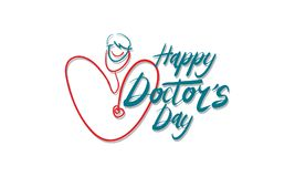 Happy Doctor`s Day. Logo Design Template Vector Stock Image