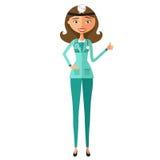 Happy doctor showing thumbs up vector flat cartoon illustration vector illustration