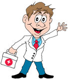 Happy Doctor. Vector Cartoon of a Happy Doctor Royalty Free Stock Photography