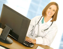 Free Happy Doctor Woman Working Stock Photos - 6820013