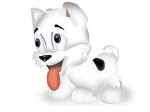 Happy dog. Happy Puppy Dog - colored cartoon illustration Stock Photo
