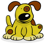 Happy Dog. Happy Faced Brown and Yellow Dog Royalty Free Illustration