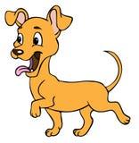 Happy dog cartoon. Illustration of a happy dog walking Royalty Free Stock Photography
