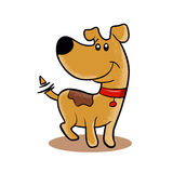 Happy Dog cartoon. adopt a pet.dog sketch. Royalty Free Stock Images
