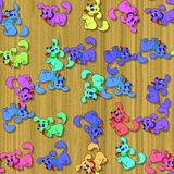Happy dog image generated seamless texture Stock Photography
