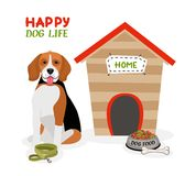 Happy Dog Life poster design Stock Photo