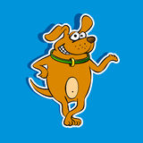 Happy Dog. Mascot of a happy smiling dog, brown puppy Royalty Free Stock Image