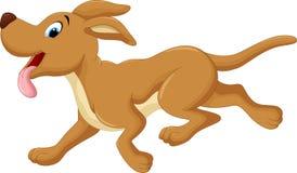 Happy dog running. Illustration of happy dog running stock illustration