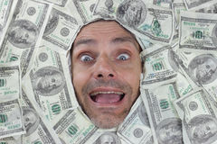 Happy dollar man Royalty Free Stock Photography