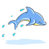 Happy dolphin Royalty Free Stock Images