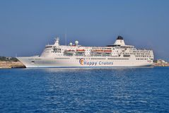 Happy Dolphin cruise ship, Rhodes Stock Photography