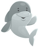 Happy Dolphin Waving Royalty Free Stock Photography