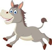 Happy donkey cartoon vector illustration