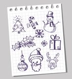 Happy doodle christmas Royalty Free Stock Photo