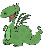 Happy dragon. A dragon with a happy expression Royalty Free Stock Photography