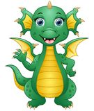 Happy dragon cartoon waving hand Royalty Free Stock Images