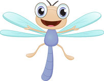 Happy dragonfly cartoon Stock Photography