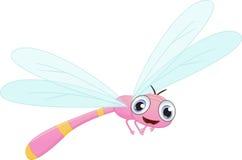 Happy dragonfly cartoon Stock Photos